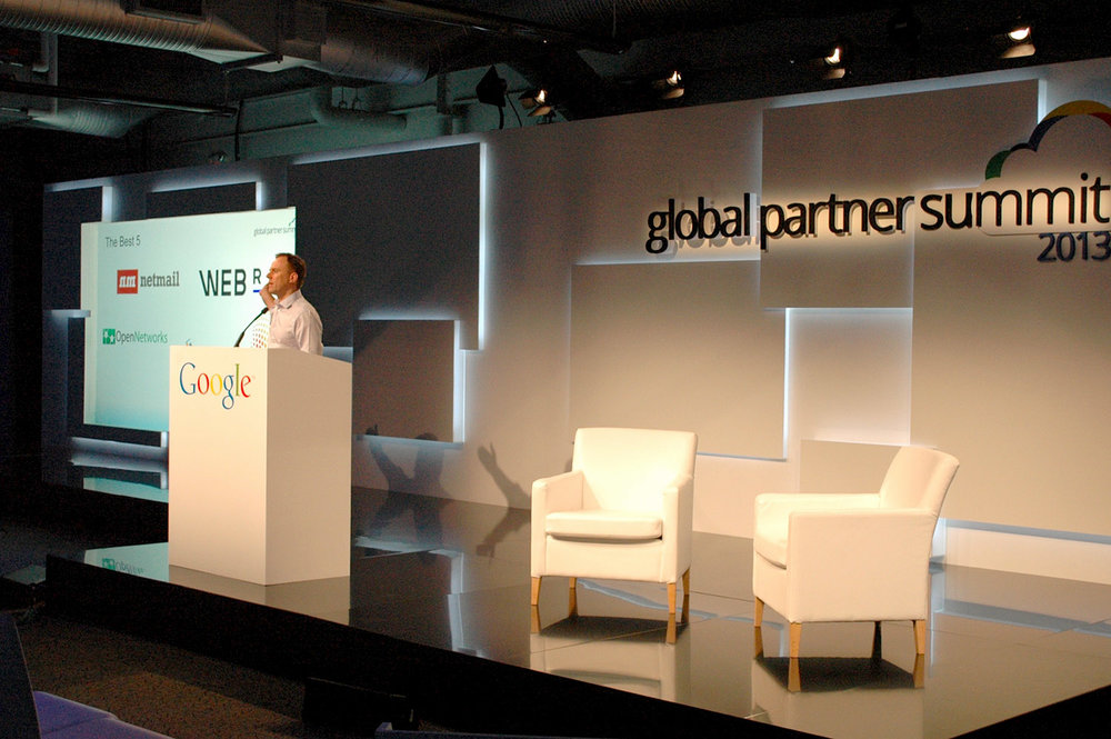 Google Global Partner Summit Gloss flooring