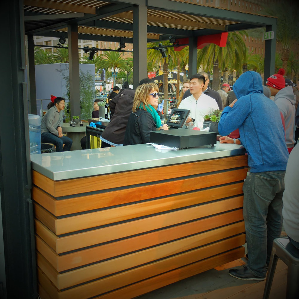 Levi's custom bar