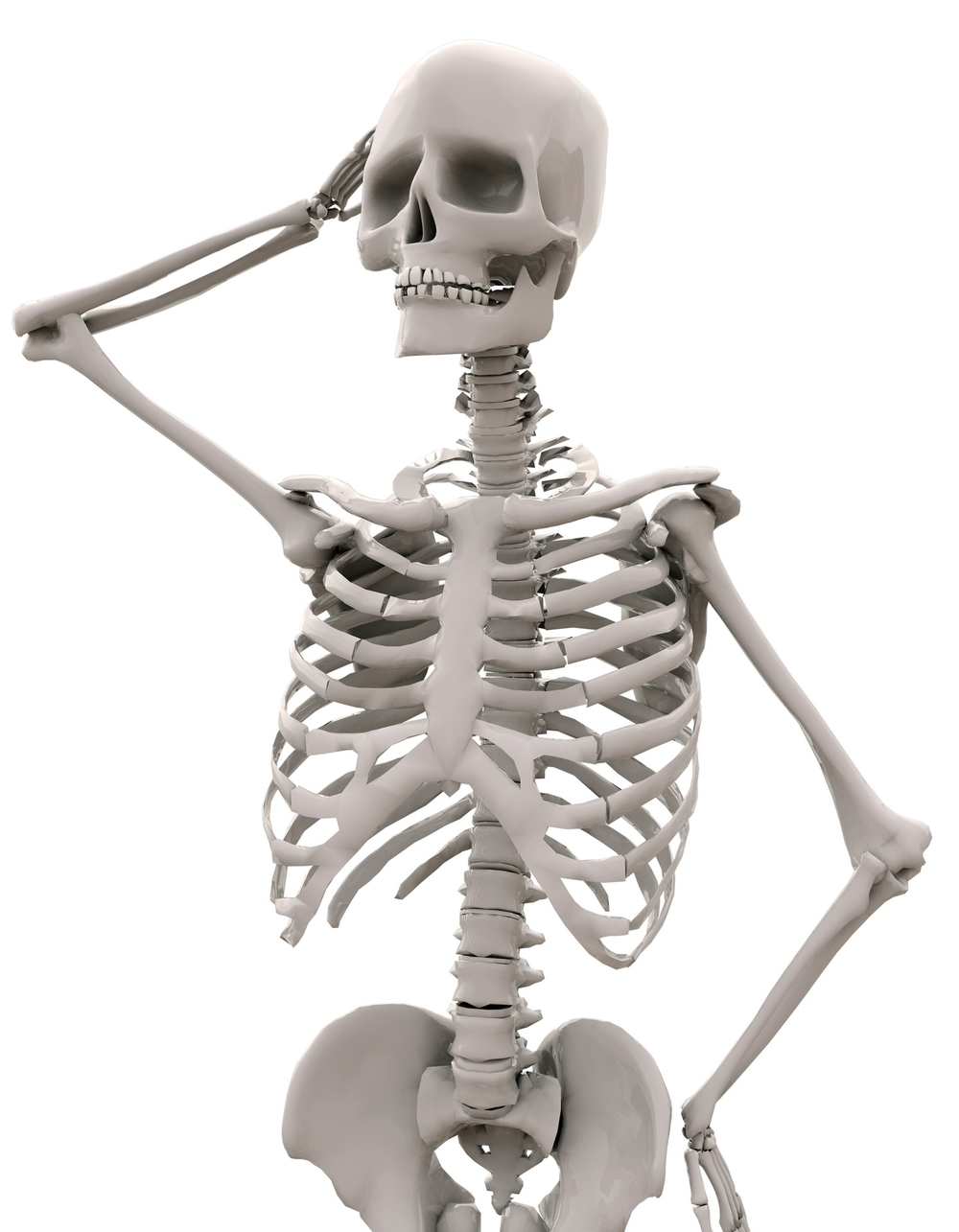 quizical skeleton