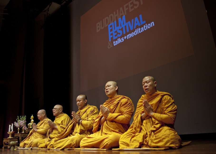 Monks at the Opening Ceremony