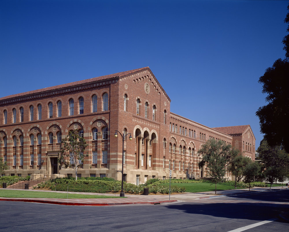 The majestic UCLA Haines Hall was built in 1928 and designed by architect George W. Kelham