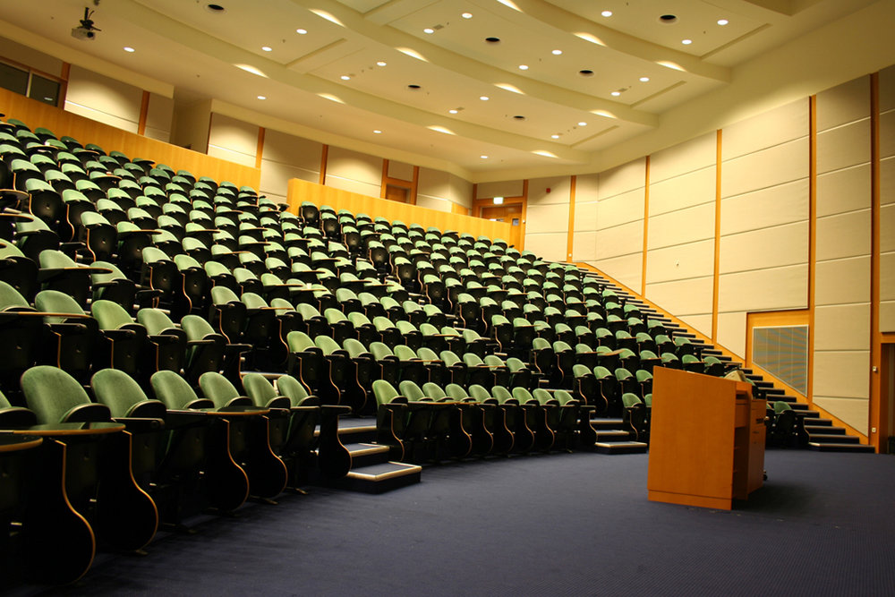 One of the lecture rooms for day-long workshops
