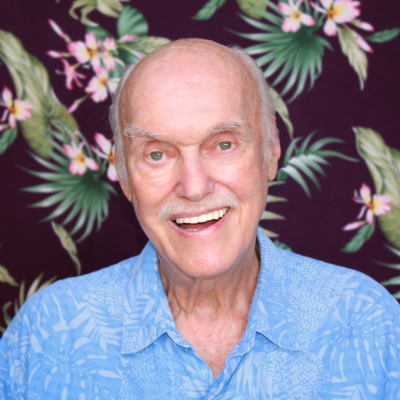 RAM DASS    (via live stream from Hawaii)  American spiritual teacher and author of the seminal 1971 book, Be Here Now