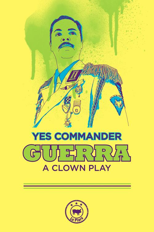 Hilarante, crítica,y aguda, esta obra de clown reúne elementos que desafían la convención del teatro y llevan al espectador a una bélica experiencia en la que las carcajadas serán el arma que conduzca a la victoria final.