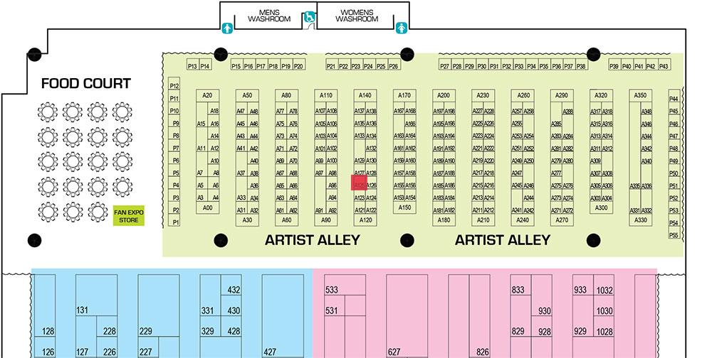 Toronto Comicon 2016 Floorplan
