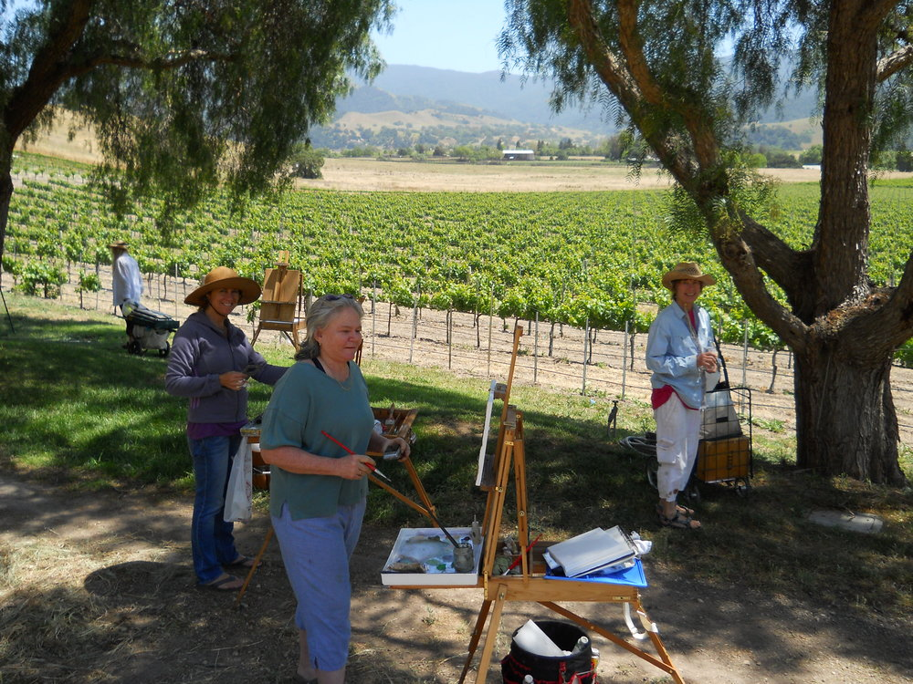 Painting among the vines