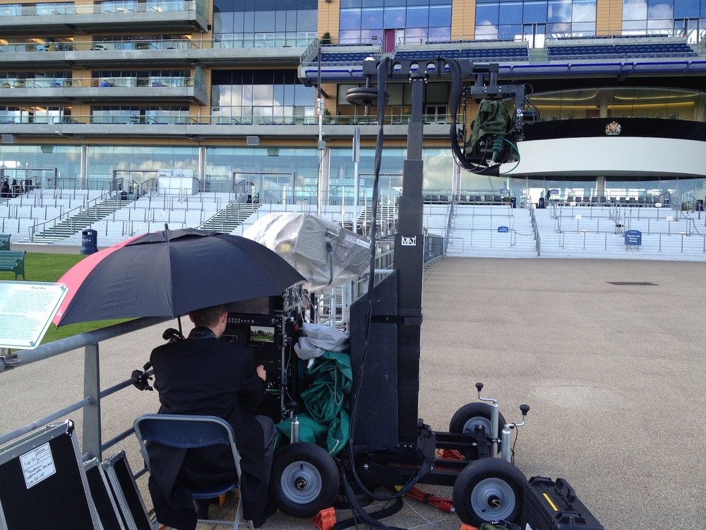 Towercam & an (underslung) PeePod on the more rugged base at Royal Ascot.