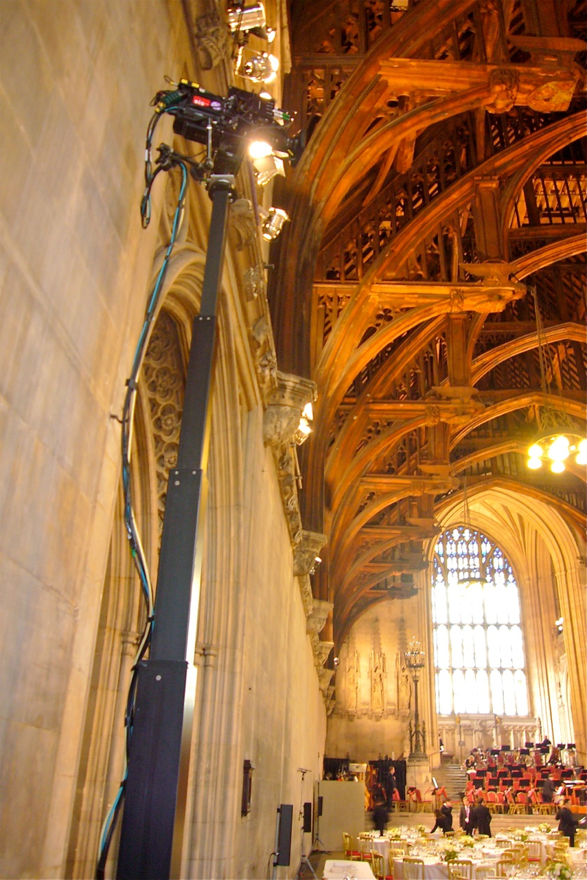 Towercam & Peepod awaiting the Queen for Jubilee celebration dinner at the Palace of Westminster.