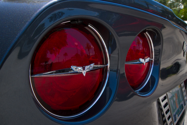Classic round tail lights with a twist.