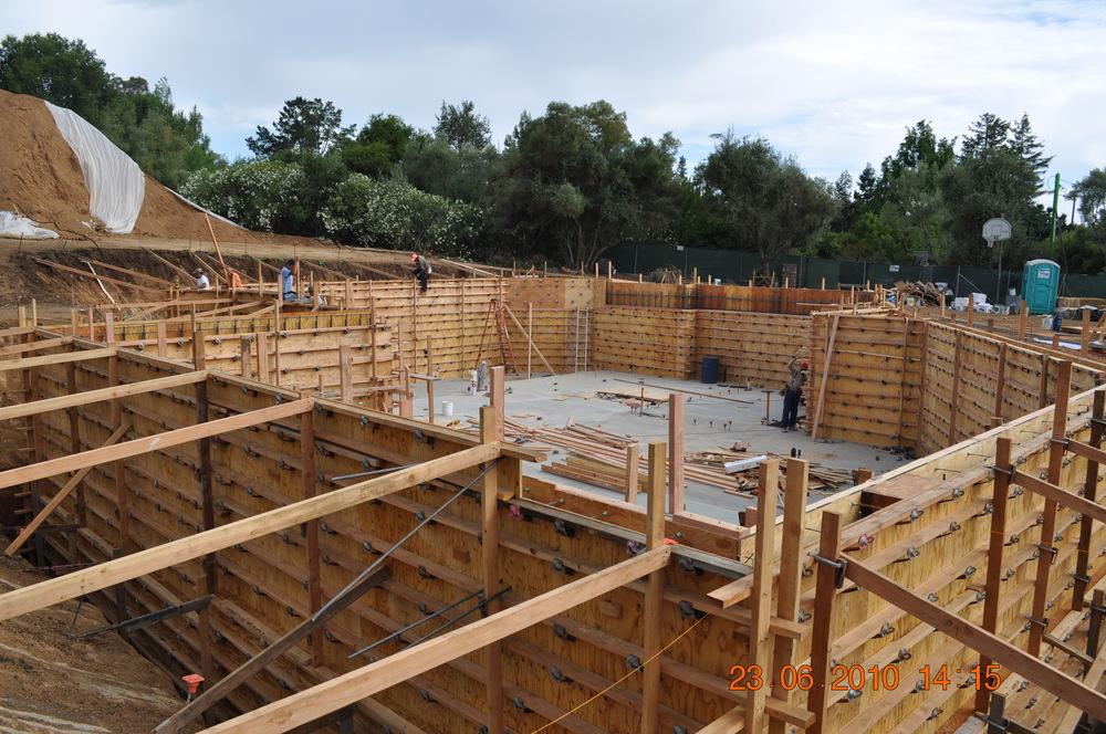 Palo alto concrete for Basement forms