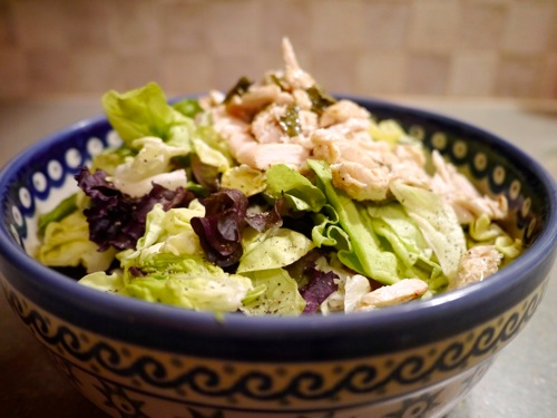 Chicken salad with blue cheese