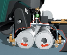 soil transfer rollers pick up dirt from carpets