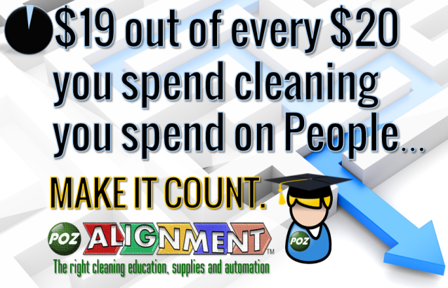 $19 of $20 you spend on cleaning you spend on people.