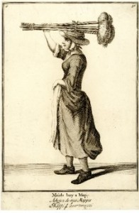 """Maids, buy a mop."" Advertisement 1700s."
