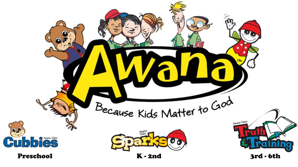A new AWANA year begins in September.  See below for schedule and registration information.