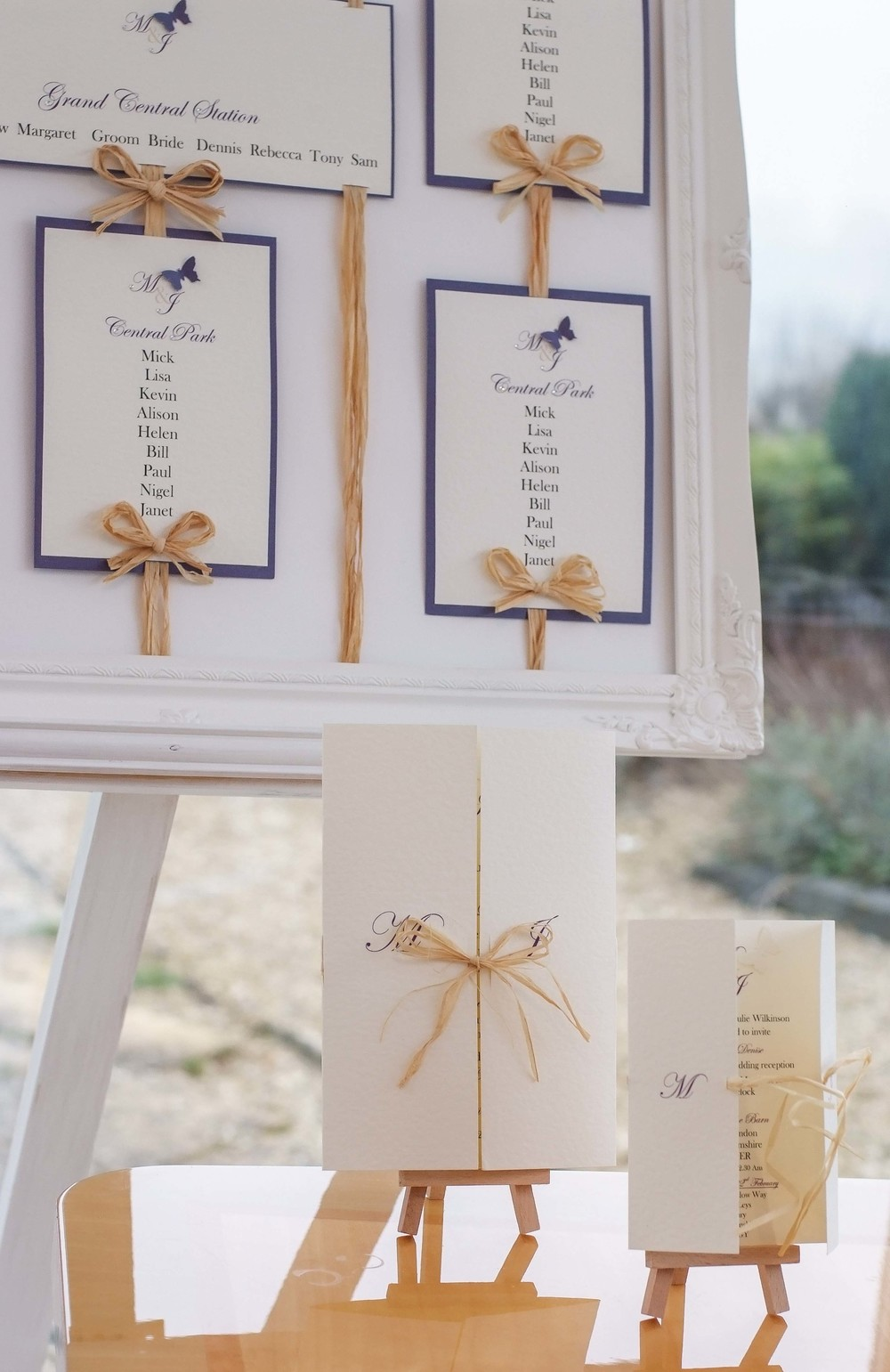 Just one of the beautiful wedding invitation and stationery ranges available at VivienB's of Oxford, Oxfordshire. The VivienB's Rustic Elegance Collection. Next Collection: Timeless Grace