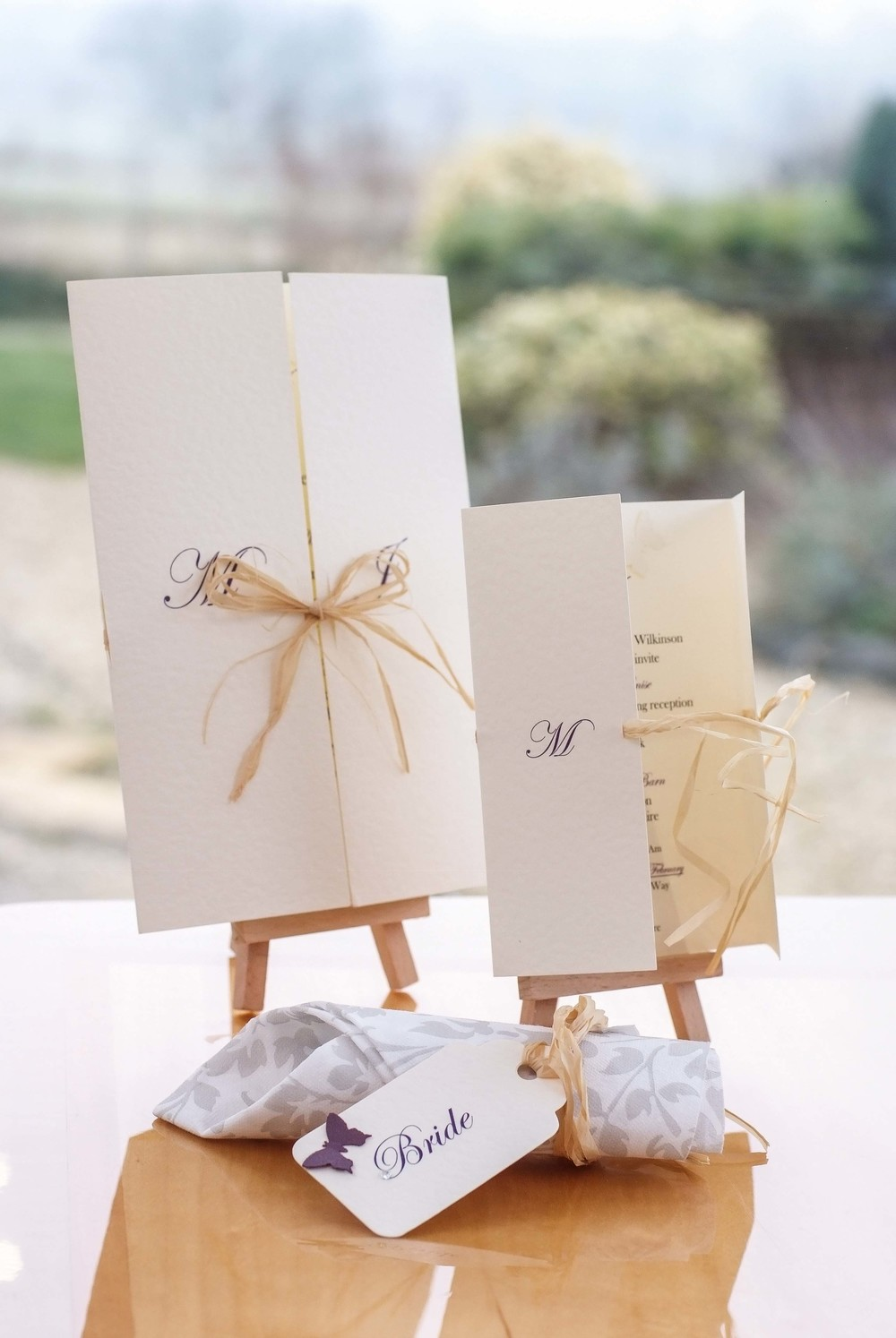 Wedding Invitations and Wedding Stationery Accessories From Oxford in Oxfordshire, UK