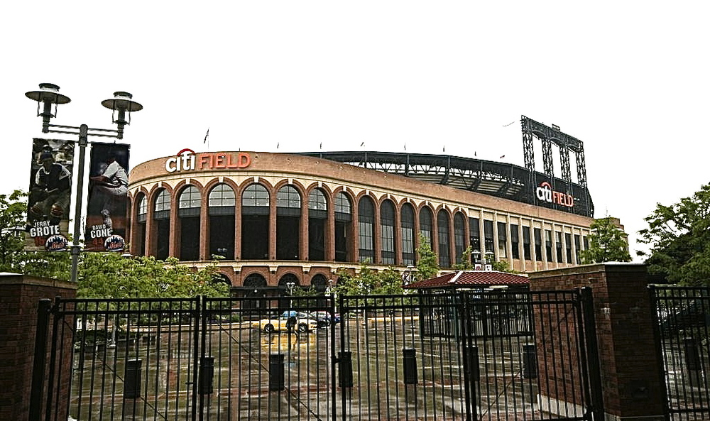Citi Field in the rain