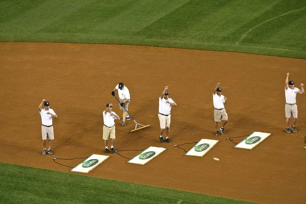 Famed grounds crew YMCA dancers