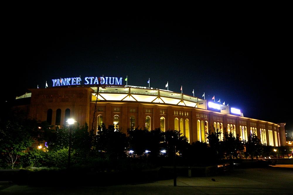 Night time for Yankee stadium
