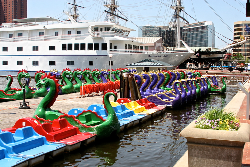 Boats in Baltimore Harbor