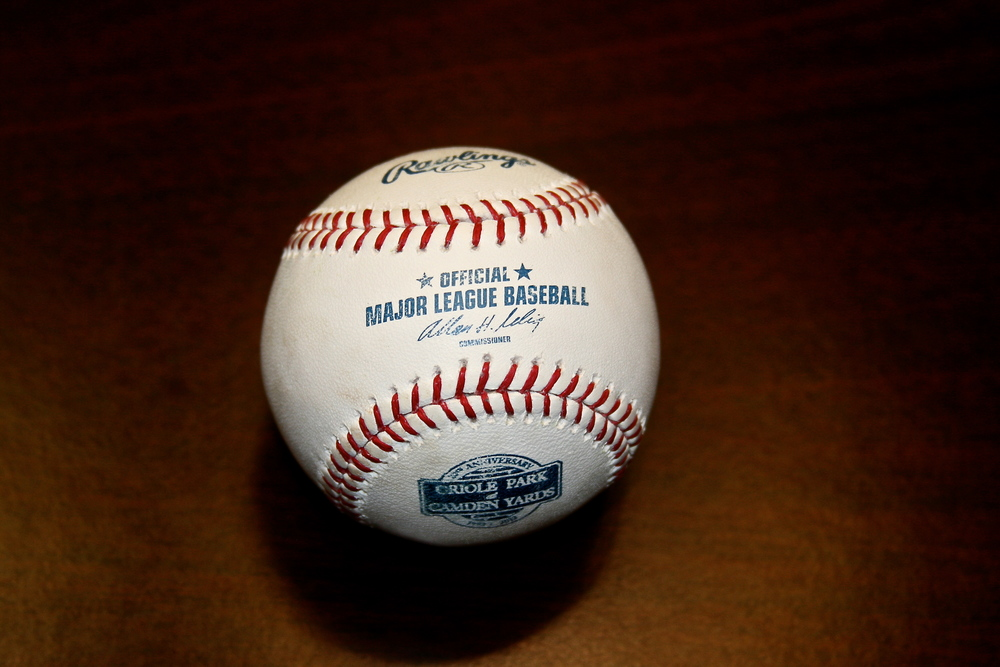 My first official MLB baseball