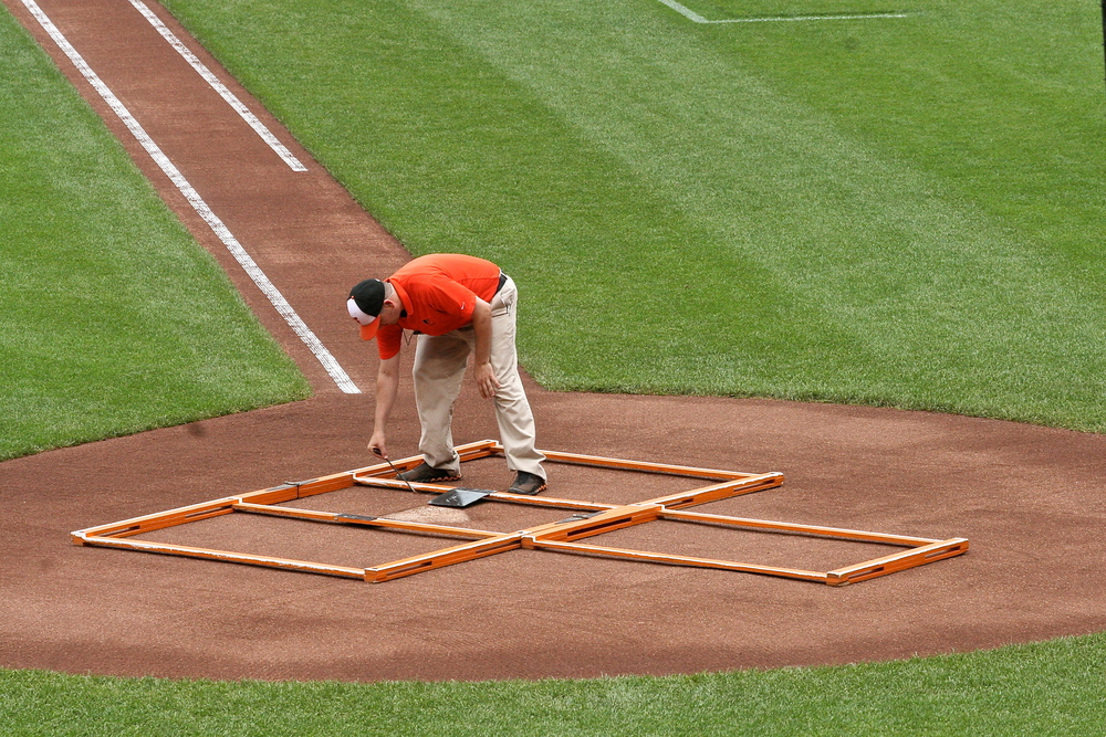 Painting in the batters box