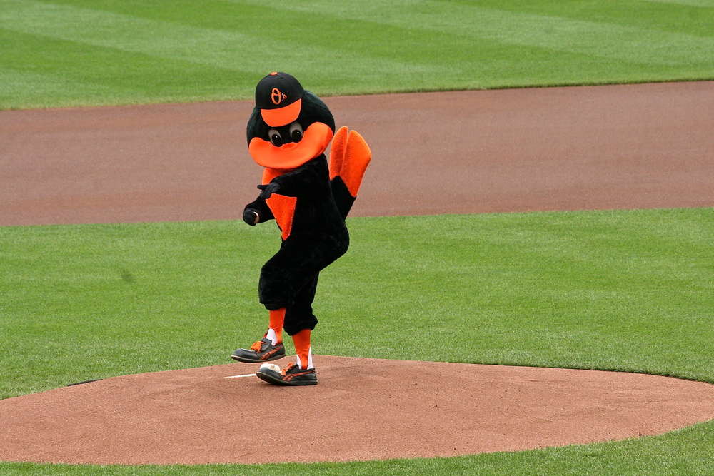 The Oriole Bird warms up the crowd