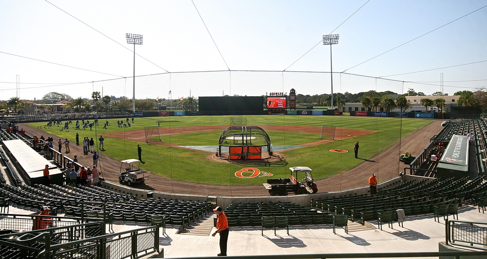 Ed Smith Stadium, home of the Baltimore Orioles