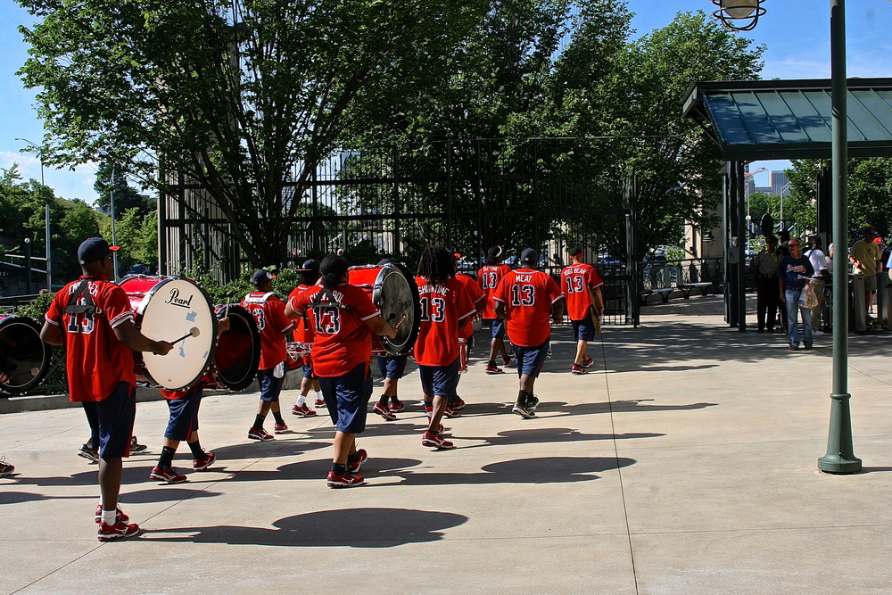 Follow that drum line