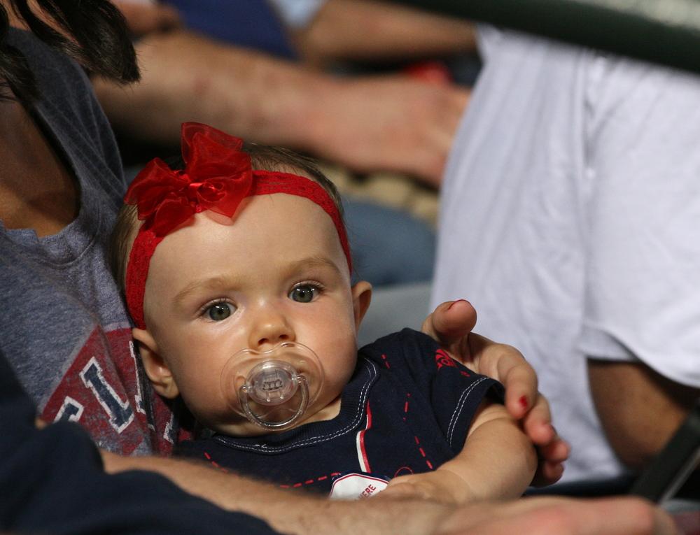 Baby Braves fan