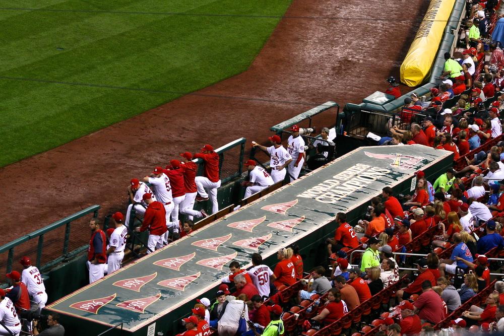 Cardinals dugout