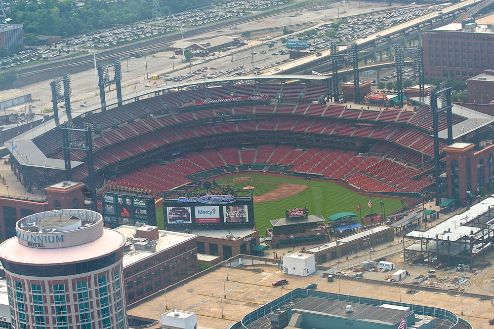 Busch Stadium from the Arch