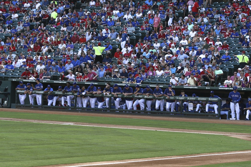 Rangers hanging out dugout.jpg