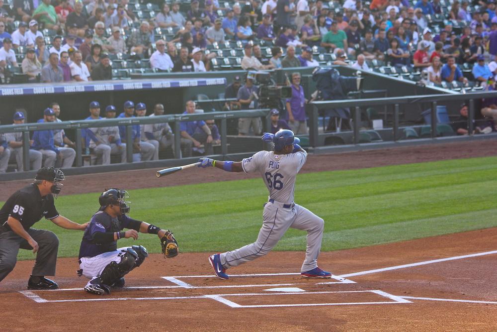 Yasiel Puig big swing