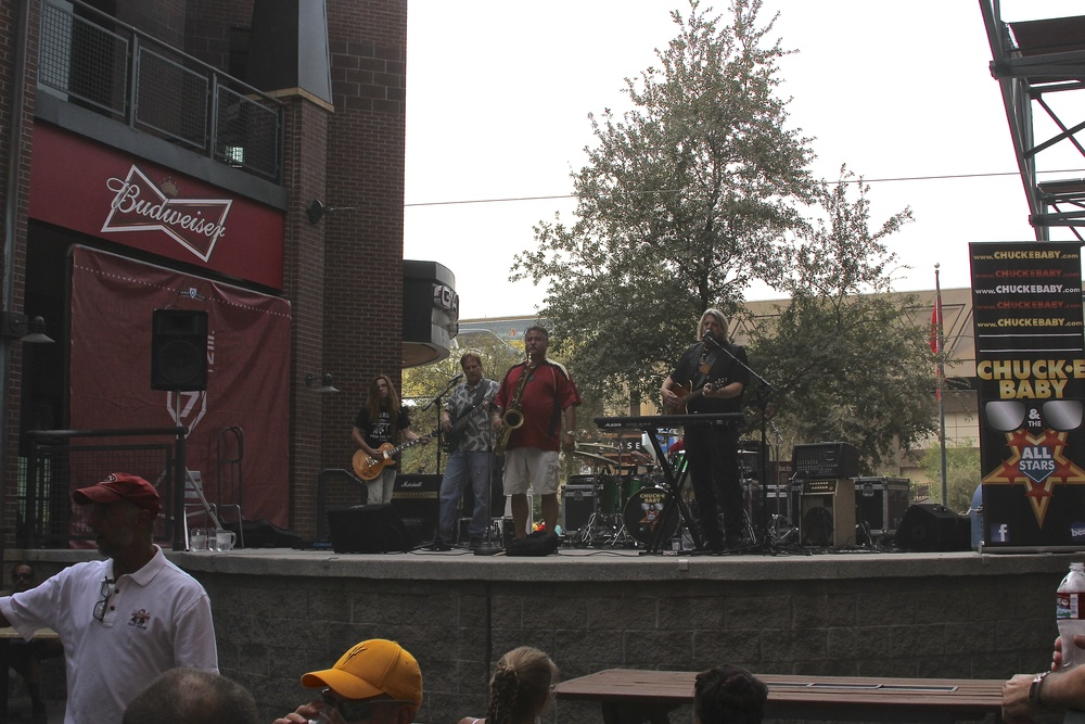 Live music outside Chase Field
