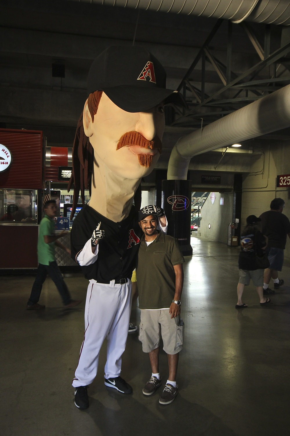 Actual size Randy Johnson