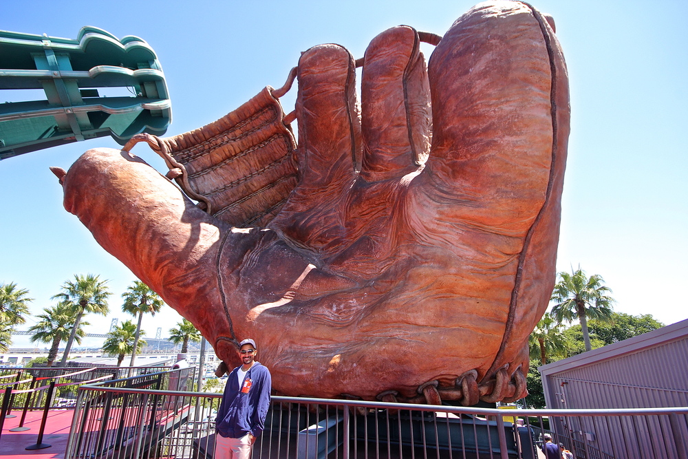 Me and Jack's dad's glove
