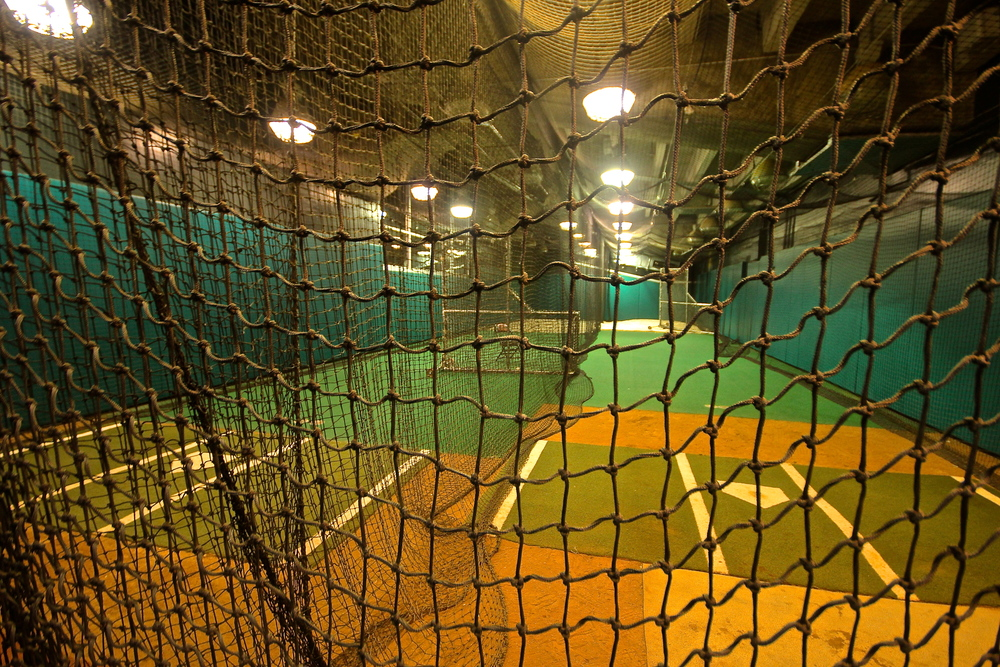 Visitor's batting cages