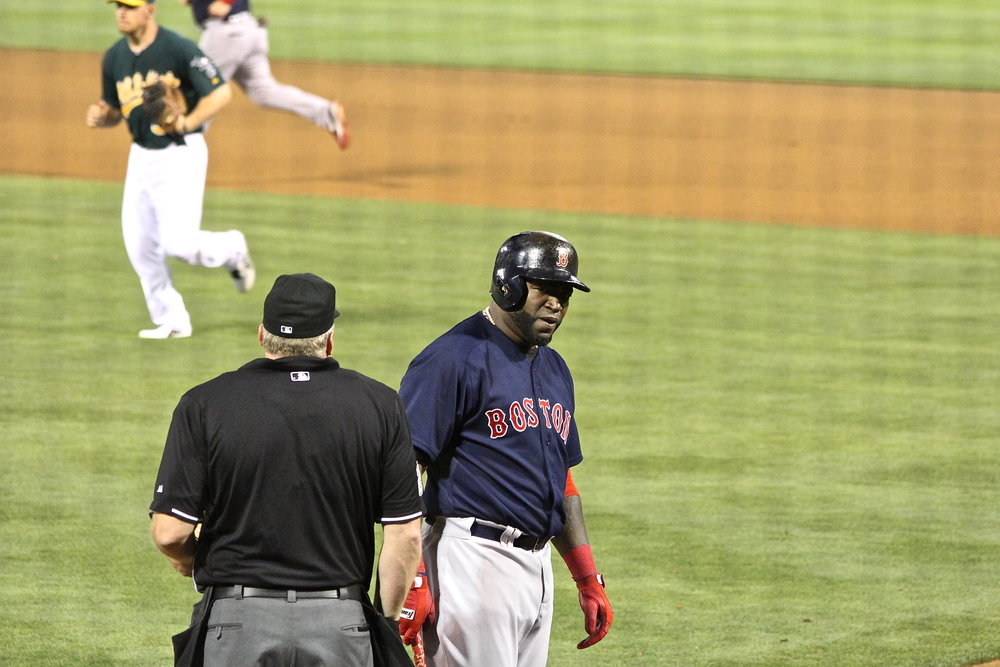 David Ortiz unhappy over called strike