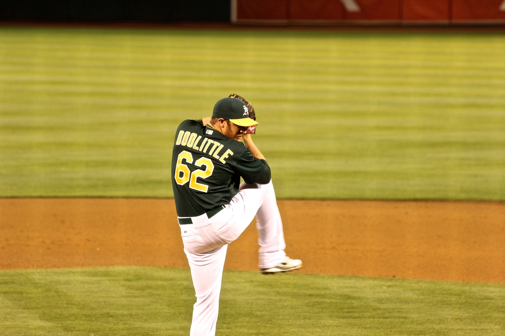Sean Doolittle in his windup