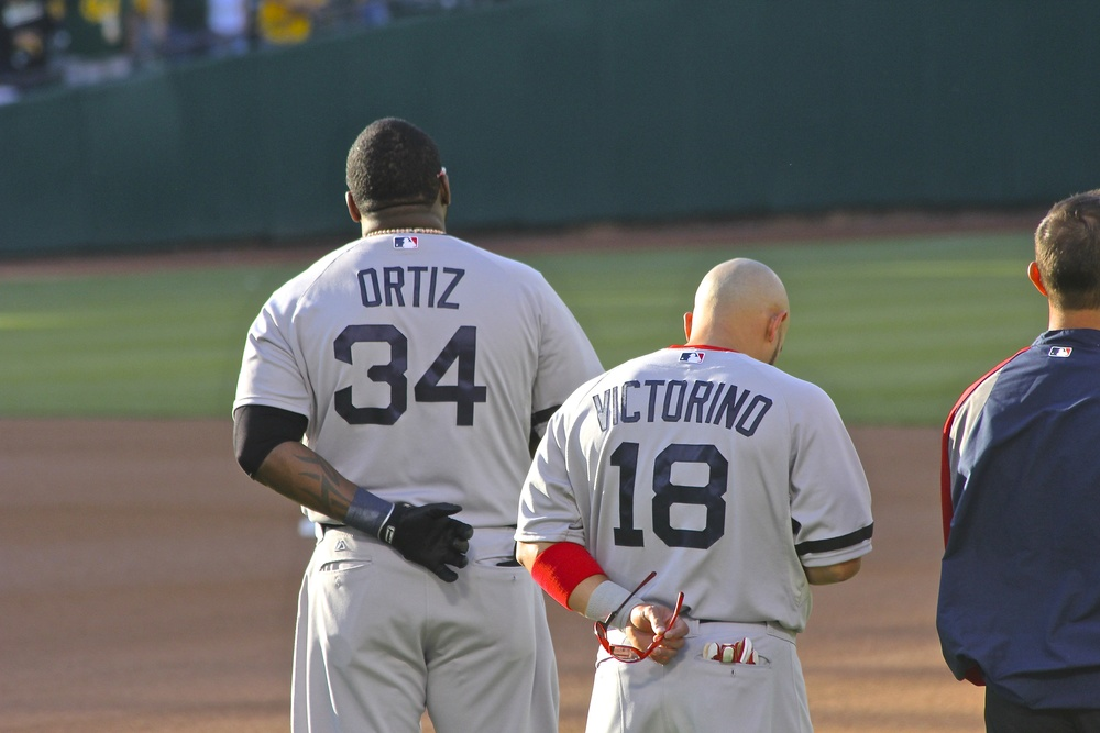 Ortiz and Victorino National Anthem