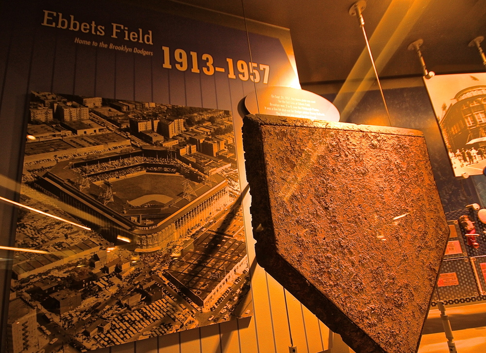 Home plate from Ebbets Field