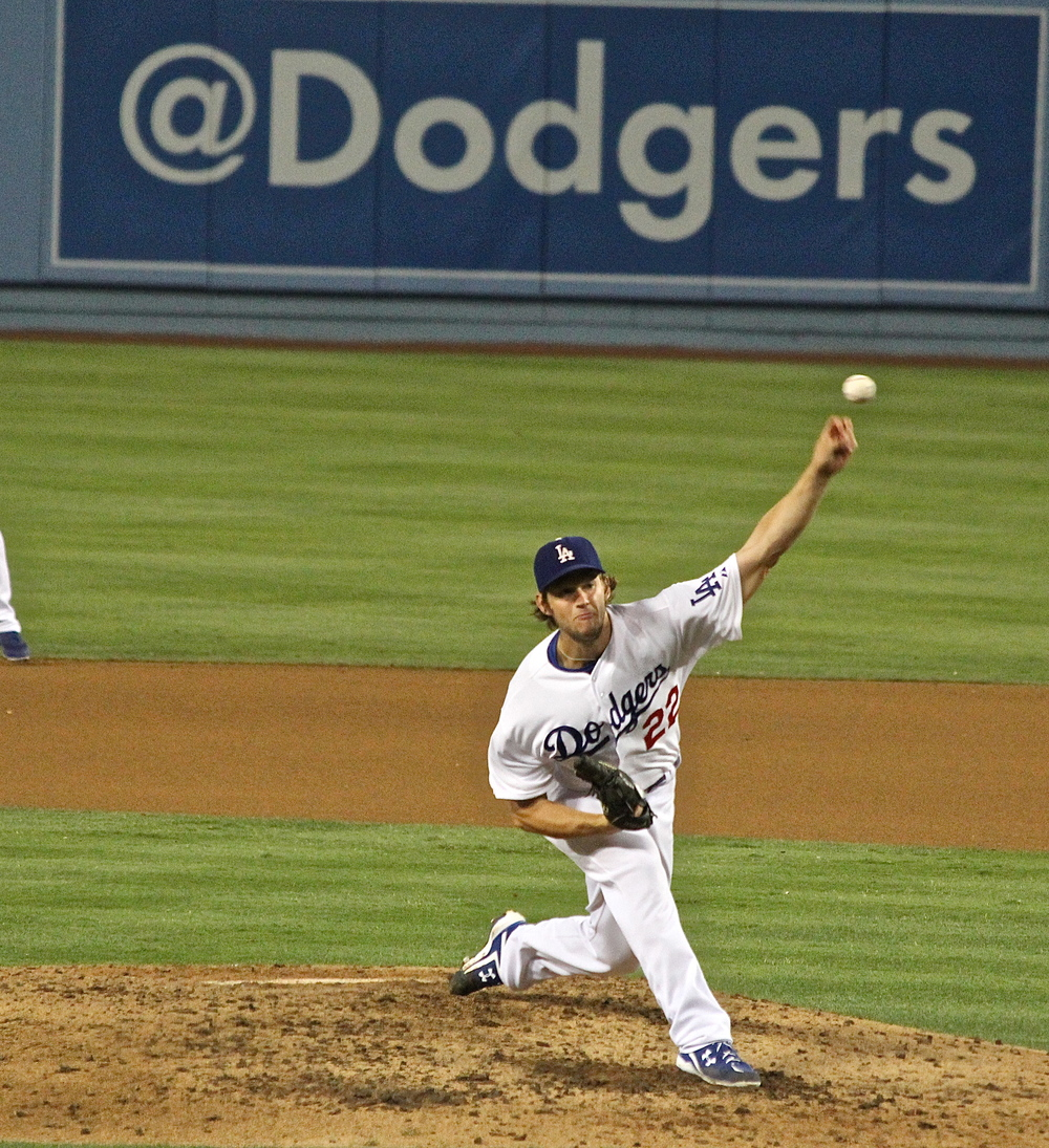 Clayton Kershaw throws one in