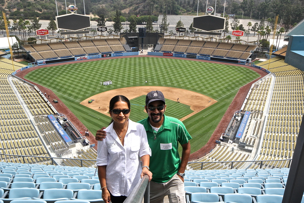 My lovely mother and me at Dodger Stadium