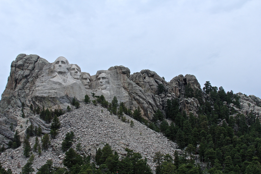 Mount Rushmore and treest.JPG