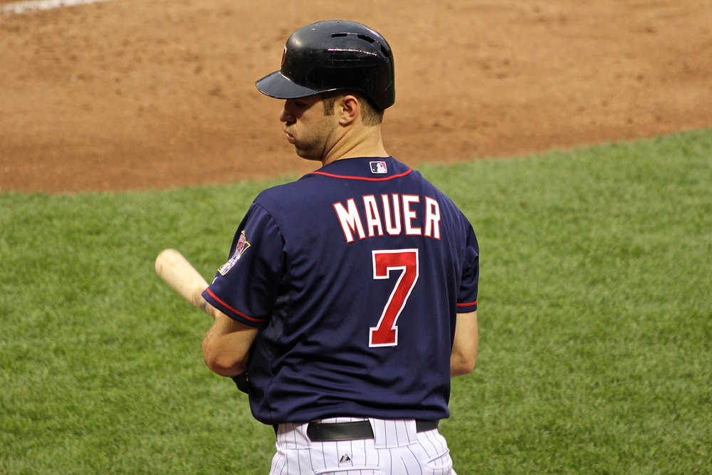 Joe Mauer on deck