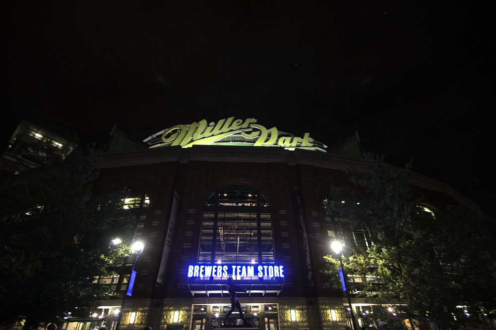 Miller Park at night
