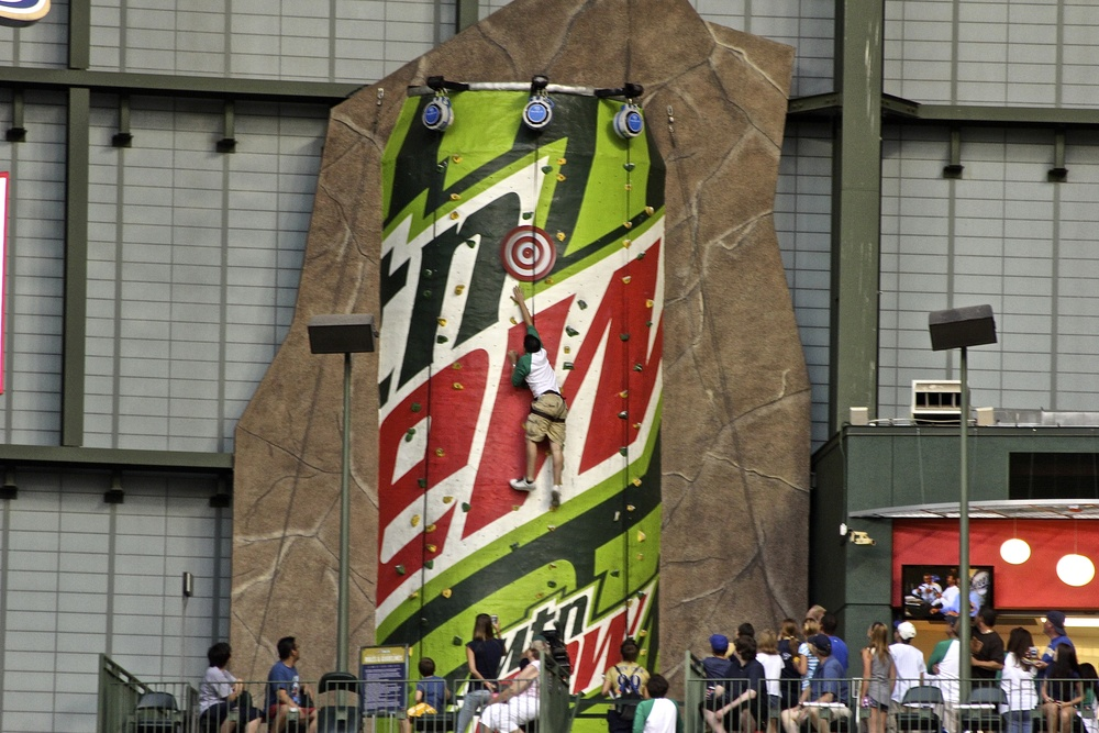 Mountain Dew climbing wall
