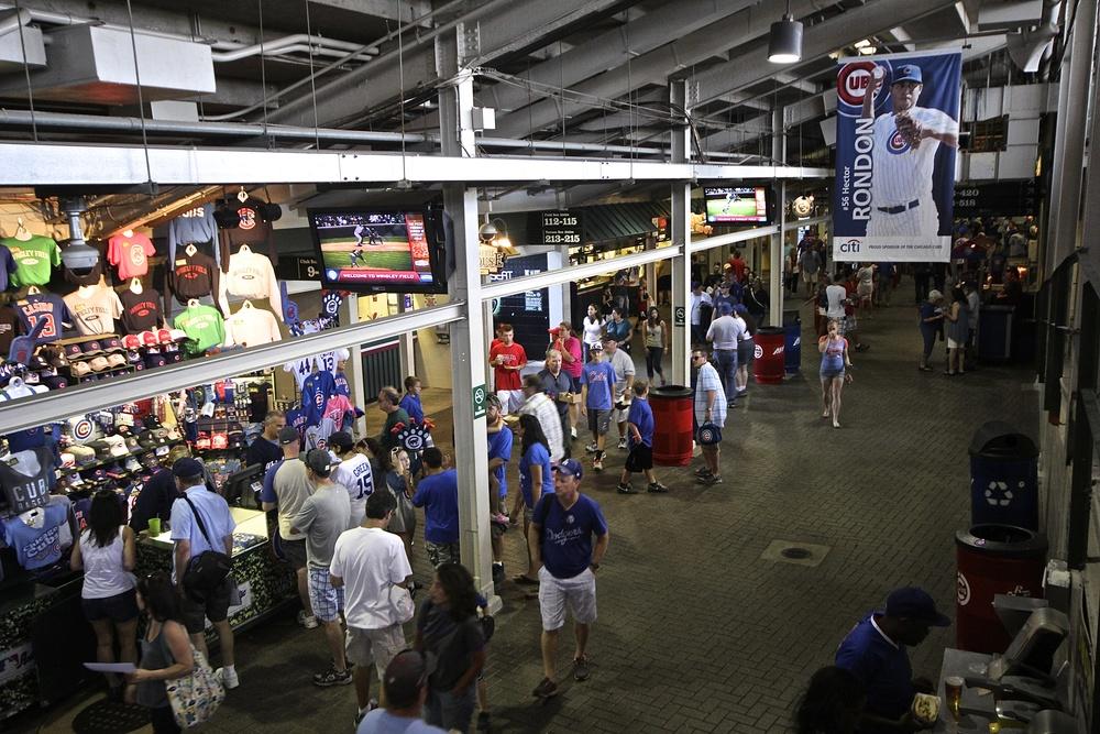 Inside Wrigley concourse